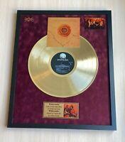 Whitesnake Whitesnake 1987 Custom 24k Gold Vinyl Record in Wall Hanging Frame