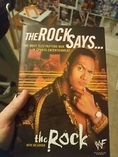 "The Rock "" The Rock Says"" Book  Dwayne Johnson WWE WWF Like New"
