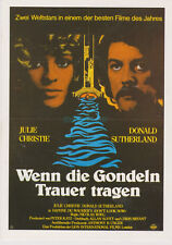 DON'T LOOK NOW DONALD SUTHERLAND JULIE CHRISTIE 1980S  GERMAN COLLECTOR'S CARD