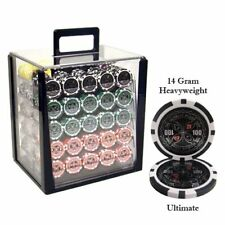 1,000ct. Ultimate 14g Poker Chip Set in Acrylic Carry Case