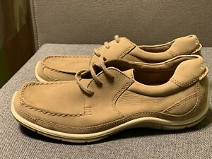 ECCO. Leder Komfort Schuhe. Braun Beige Gr. 42. Neuwertig