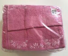 Baltic Linen 6 Pc. Towel Set, Pink.  2 Bath + 2 Hand + 2 Washcloths