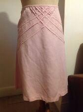 Nougat Pale Pink Linen Knee Length Flared Skirt Size 3/12