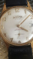 Vintage watch authentic Dogma 17Rubis Prima ShockResist-works well Gold Plated