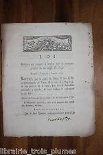 ✒ Révolution LOI compte à rendre par receveur général Caisse du clergé 1791