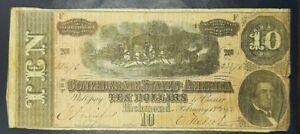 1864 CONFEDERATE STATES OF AMERICA  NO RESERVE, NO RESERVE