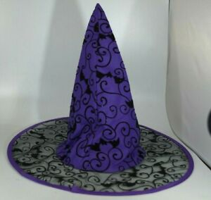 Purple Bats And Sparkly Witch Hat