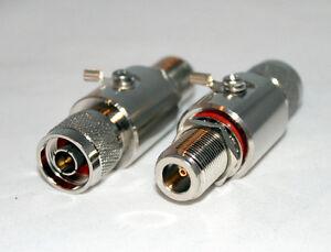 N Male to N Female RF Connector 2.4GHz 5KA Coaxial Lightning Arrestor 50ohm 230V