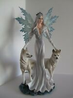 Aura Fairy Ornament with wolves  24cm Nemesis Now
