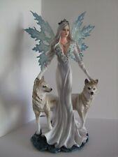 Aura Fairy Ornament with wolves  24cm Nemesis Now