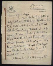 1926 GEORGE BERNARD SHAW letter to Magdalen Ponsonby, re Sargent Portrait & R.A.