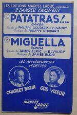 partition PATATRAS MIGUELLA - accordéon chant orchestre - C. Bazin G. Viseur