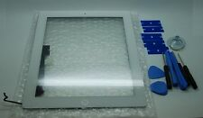 iPad 4 Bianco Digitizer, Touch Screen, Vetro anteriore + 3M Adesivo + Utensili