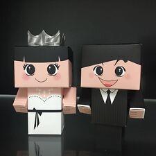 20pcs Wedding Favor Boxes Dress & Suit Party Bride Groom Shower Gift Style 3D