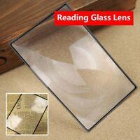 Vergrößerung Lesen von Glaslinsen Vergrößerung der Buchseite Tabelle vergrößern