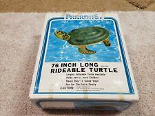 Vintage Inflatable Paradise Turtle Ride On