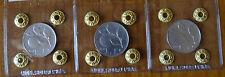 REPUBBLICA ITALIANA LOTTO 3 MONETE 1 LIRA 1948 1949 1950 RARA sigillate qSPL