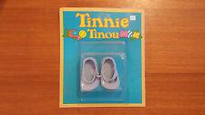 Accessoire Poupée Vintage Tinnie Tinou « Chaussures Bleu » Jamais Déballer