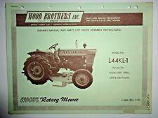 Woods L44KL-1 Mower Operators Parts Manual (fits Kubota L200 L210 L260 Tractors)