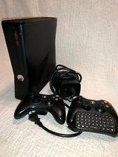 Xbox 360S Slim Console 250GB HDD w/2 Controllers Power Brick + 14 Games WORKING