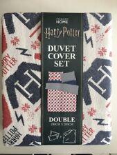 Harry Potter Hogwarts Double Duvet Cover Set Primark Bedding Quilt Red Blue Whit