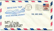 1977 Boeing 747 Space Shuttle Aircraft Flight 2 Fulton Mc Murtry Edwards USA