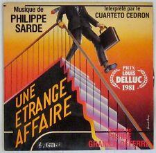 Une étrange affaire 45 tours Philippe Sarde Pierre Granier Deferre 1981