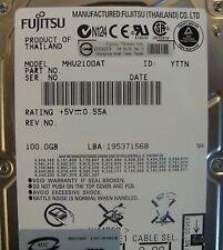 """10 pc. lot  Fujitsu MHU2100AT 2.5"""" 100gb 4200rpm ATA HDD (DOD tested & Wiped)"""