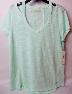 Calvin Klein Performance Short Sleeve Cut Out T-Shirt Pistachio Size Medium
