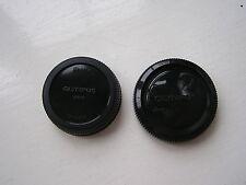 Olympus OM SERIE Anteriore Corpo - + posteriore copriobiettivo OM10 OM20 OM1 Telecamere