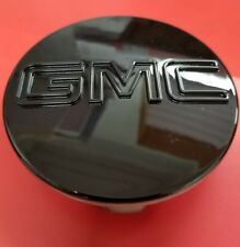 "GMC BLACK CENTER CAPS Yukon Denali Sierra 3.25"" 83mm 18 20 22 Wheel 9595759 1PC"