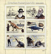 Guinea Bissau  2009 Charles Darwin, dinosaur , sailing ship