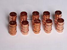 8mm Connettore Dritto saldatura in rame ad anello RACCORDO Tubazione-Confezione da 10, impianti idraulici
