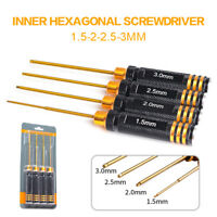 4x RC Hex Screwdriver Repair Tools For RC Car Drone Helicopter 1.5/2.0/2.5/3.0mm
