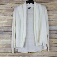 Theory Womens White Linen/Silk Draped Cardigan Sweater Size M