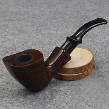 Ebony Wood Smoking Tobacco Pipe Fashion High Quality Wooden Pipe Christmas Gift