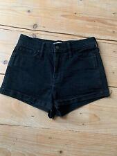 Hollister Black Denim Shorts Waist 27