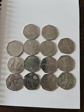 50p olympic london 2012 14 out of 29 coin set lightly circulatedand 1 bonus 50p