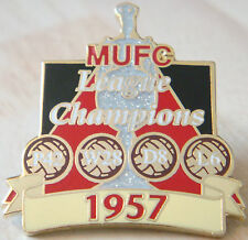 MANCHESTER UNITED Victory Pins 1957 LEAGUE CHAMPIONS Badge Danbury Mint