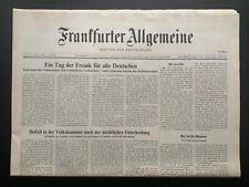 Frankfurter Allgemeine Zeitung Original v. 24.08.1990, Beitritt, ungelesen Top!
