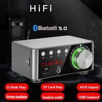 HIFI Bluetooth 5.0 Mini Amplifier AMP Home Theater USB/TF/AUX/Bluetooth Player