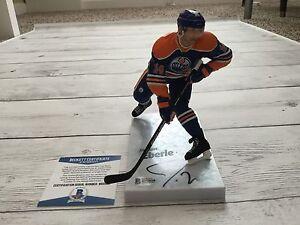 Jordan Eberle Signed Autographed Edmonton Oilers McFarlane Beckett BAS COA b