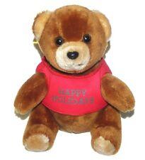 Logo Bear Tan Teddy Red Happy Holidays Shirt Electrolux Plush Lovey Stuffed Toy