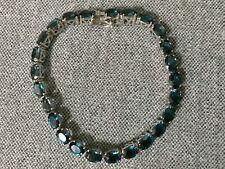 Sterling Silver London Blue Topaz  Oval Tennis Bracelet NWT.