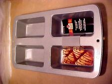 "NEW Wilton Recipe Right 4 Cavity Loaf Pan NON-STICK PAN SIZE 14 3/4"" X 8 3/4"""