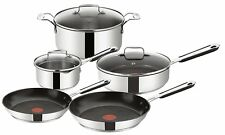 TEFAL Jamie Oliver Stainless Steel 5pcs Cookware Set Pot Frypan Oven Cooking Pan