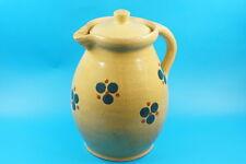 Großer Uralt Bauern Keramik - Wasserkrug / Hafnerkeramik (E283)