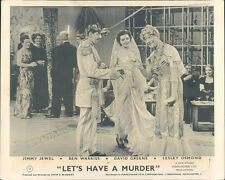 Let's Have A Murder Jimmy Jewel Ben Warris in costumes original 1950 lobby card