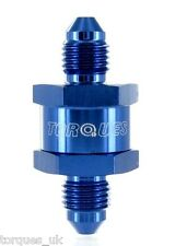 AN -3 (3AN) Blue Anodised Billet Turbo Oil Feed Filter