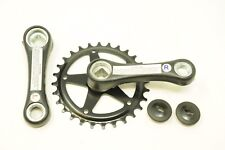 CHILDS BIKE 28 TEETH SINGLE COTTERLESS CHAINWHEEL & CRANK SET 90mm LONG CRANK,